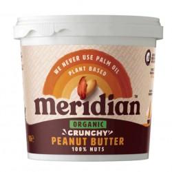 Beurre de cacahuètes - Crunchy - Bio - Meridian - 1kg